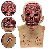 TPulling Halloween Horror Maske Parodie Maske Tricky Spielzeug Blutige Zombie Maske schmelzendes Gesicht Latex Kostüm Walking Dead Halloween Scary Maske (A)