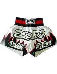 LUMPINEE de Muay Thai Shorts - Afortunadamente SERIES Varios colores blanco/negro Talla:XL