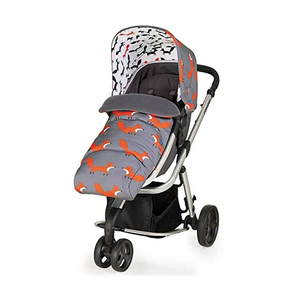 Cosatto Hold Mix Carseat Mister Fox Cosatto Includes - Pram & Pushchair, Hold Car seat, Adaptors, Apron and Raincover Suitable from birth up to 15kg, One unit transforms from newborn pram mode into pushchair mode. Space saving. No need to buy separates. 'In or out' facing pushchair seat lets them bond with you or enjoy the view. 3