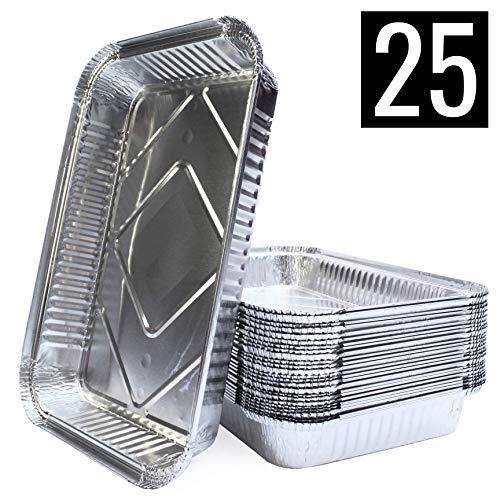 Mamatura XL-Aluminium-Tropfschalen | groß, rechteckig, hitzebeständig | 25 Stück
