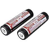 XTAR 18650 - batterie ricaricabili agli ioni di litio Panasonic, protetto, 3400mAh, 3.7V (2-pack)