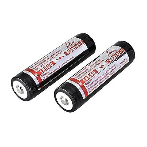 Powered Up XTAR 18650 Pack de 2 accumulateurs protégés rechargeables