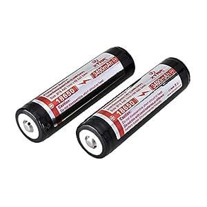 Powered Up XTAR 18650 Pack de 2 accumulateurs protégés rechargeables Panasonic Li-ion 3400 mAh 3,7 V