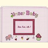 Unser Baby (rosa): Großes Stoff-Fotoalbum (Große Fotoalben)