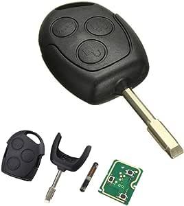 Schlüssel Gehäuse Schale Klinge Fernbedienung 3 Tasten Für Auto Ford Fiesta Focus Mondeo Ka Transit Mit