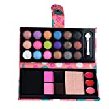 'Kashyk 26 Colors Eyeshadow Combination Palettes | Brow Powder | Blush | Glitter | Lip Gloss | Eye Shadow | Brush | Mirror| Highly Pigmented |cosmetic | Party | Wedding | Cocktail | Gift (pink)