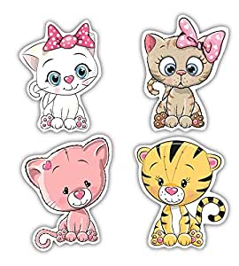 Nourish Cute Cats Fridge Magnets