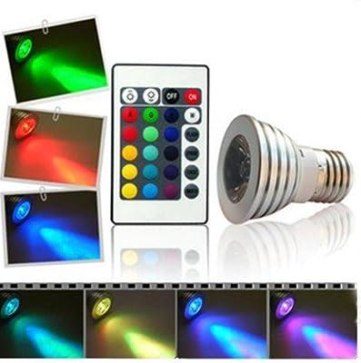 Tinxi RGB LED Spot Lampe / Strahler GU10 230V 3Watt multicolor (farbwechsel) dimmbar inklusive Infrarot-Ferbedienung von tinxi auf Lampenhans.de