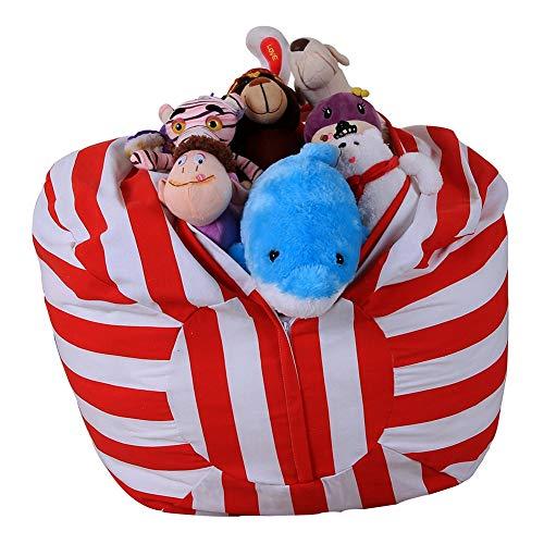 TOYLT Aufbewahrungstasche Sitzsack - Kinder Soft Pouch Stoff Stuhl, Spielzeug Aufbewahrungstaschen mit reißverschluss,18inch