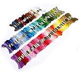 150 Docken Sticktwist Stickgarn 8m 6-fädig Multicolor farblich bunt Basteln