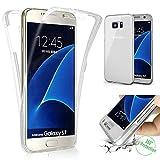Galaxy S7 Hülle,SainCat TPU Silikon Hülle Tasche Handyhülle Weiß 360 Grad Full Body Coverage...