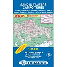 Sand in Taufers: Wanderkarte Tabacco 036. 1:25000 (Cartes Topograh)
