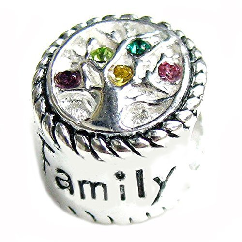 Sterling Silver Family Love Tree Of Life Bead Charm For European Charm Bracelets