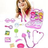 Pawaca Luxuriöse Pretend Play Doctor Set, 14 Pcs Spaß Little Toys Arzt Kit für Kinder, Verpackt in Einem Stabilen Geschenk Fall, Beste Geschenk Baby Entwickeln Intelligenz