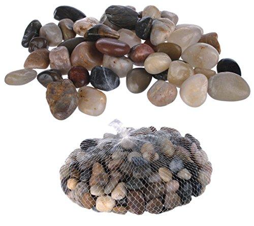 Dekosteine, Kieselsteine, verschiedene Farben sortiert, 8 - 12 mm, 1 Kilogramm im Netz