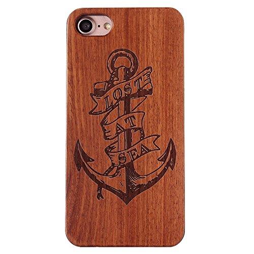 iPhone Case Cover Pour iPhone 7 motif de crâne sculpté en bois de rose bois en étui de protection arrière ( SKU : Ip7g1270d ) Ip7g1270e
