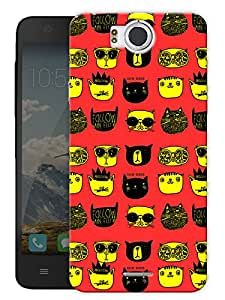 """Humor Gang Trendy Cats Yellow Printed Designer Mobile Back Cover For """"Google Infocus M530"""" (3D, Matte Finish, Premium Quality, Protective Snap On Slim Hard Phone Case, Multi Color)"""