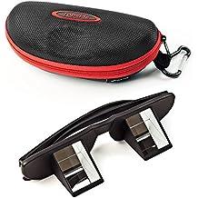 Topside Seguridad Gafas (Gafas de escalada, Negro) en Premium de calidad–Incluye Funda, cinta de mosquetón, gafas, bolsa y gamuza de microfibra–copias sin cuello