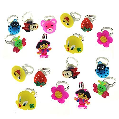 her Gummiring Luminous Ring-Spielzeug für Kinder Kinder Erwachsene reizendes Geschenk-Partei-Festival Accessoires Mode Schmuck zufällige Farbe ()