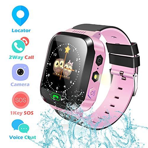 Reloj Inteligente Smartwatch para niños, rastreador de ubicación GPRS + LBS, Reloj del teléfono, Reloj de cámara, Chat de Voz, Llamadas telefónicas, Regalos Inteligentes para niños de 3 a 14 años.