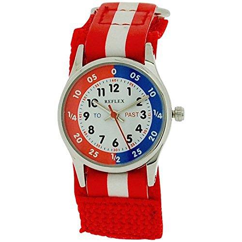 Reflex Time Teacher Red amp; White Easy Fasten Boys Girls Childrens Watch REFK0002