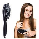 Brosse Lissante ChauffantePeigne de massage antistatique cheveux raides_surker910 peigne ion négatif, pas d'électricité statique, peigne de massage cheveux raides, beauté portable.