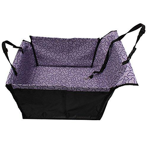 (Tping Doppelschicht Hunde Autositz Autoschutz Sitzschoner Rückbank Auto Transporttasche Autotasche für Hund und Katze (Lila))