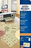 Avery Zweckform C32021-25 Classic Visitenkarten 25 Blatt
