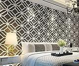 HomeArtDecor | Moderne 3D Wandpaneele | 3D Fliesen | Hochwertiges Polyvinylchlorid | Büro Dekoration | Dekoration | Einfach anzuwenden | Laubsägearbeit | Gitter