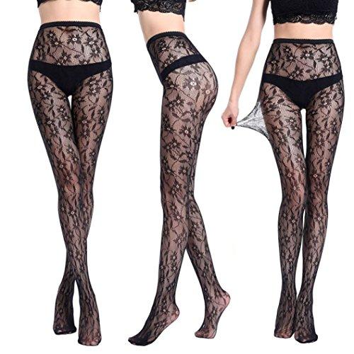 Femme Sexy Résille, Malloom® Lingerie Collants Jacquard Collants Fils Filet Bas N