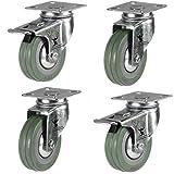 Pack de ruedas de goma (50 mm, 4 unidades)