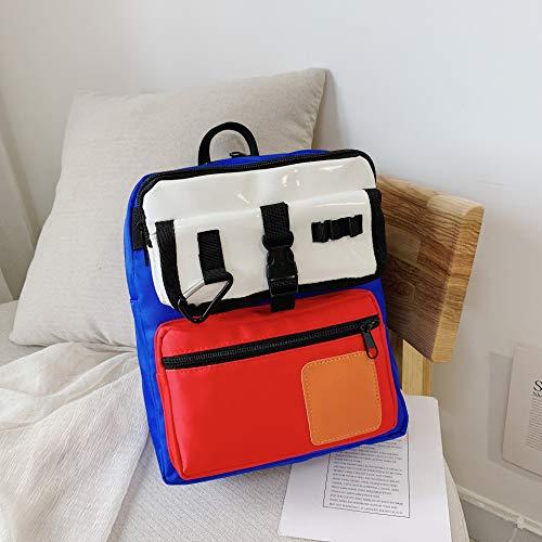 Kindertasche, Schultertasche Einfache Kontrast Farbe Kleine Rucksack Jungen Und Mädchen Student Tasche Hohe Kapazität, Kind Dekompression rot -