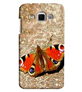 Blue Throat Butterfly Inspired Hard Plastic Printed Back Cover/Case For Samsung Galaxy J3