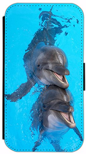 Flip Cover für Apple iPhone 4 / 4s Design 662 Wolf Hülle aus Kunst-Leder Handytasche Etui Schutzhülle Case Wallet Buchflip (662) 663