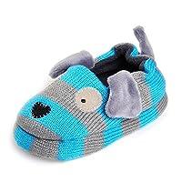 KVbaby Toddler Boys Girls Comfort House Slipper Cartoon Animal Slippers Cotton Warm Unisex Kids Winter Non-Slip Home Slipper