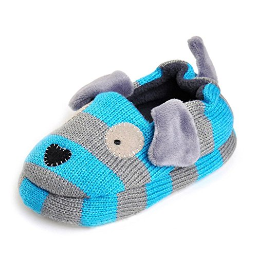 KVbaby Toddler Boys Girls Comfort House Slipper Cartoon Animal Slippers Cotton Warm Unisex Kids Winter Non-Slip Home Slipper