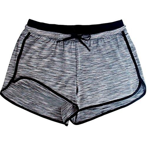 MCYs Sommer Frauen Mode Kurze Hosen Tie-dye Elastische Sport Shorts Hose Active Yoga Shorts Yoga Running Fitness Stretch Leggings (L, Grau) (Tie-dye-stretch-denim)