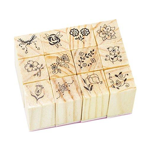 Wooden Rubber Pattern Scrapbooking Supplies