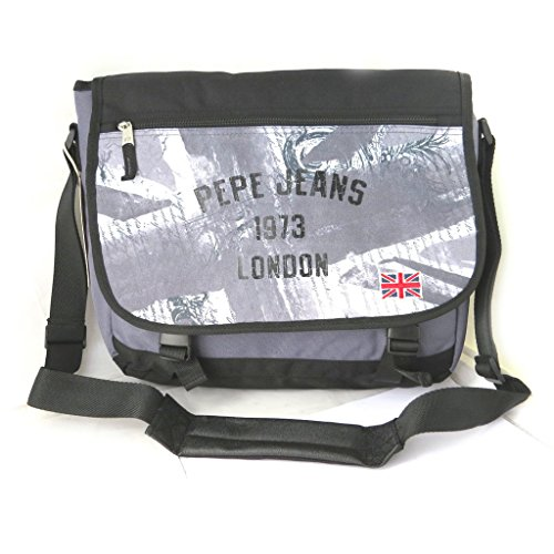 Pepe Jeans [M7874] - Sac bandoulière 'Pepe Jeans' gris - union jack (format ordinateur)