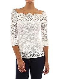 Amazon.es: Blusas De Encaje Elegantes - Camisetas de manga larga / Camisetas, tops y blusas: Ropa