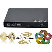 DVD SWorks - Unidad grabadora de DVD externa USB 2.0 (DVD RW, CD RW, Lightscribe)