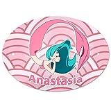 Eurofoto Türschild mit Namen Anastasia und Meerjungfrau-Motiv in Rosa für Mädchen | Kinderzimmer-Schild