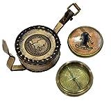 Sherlock Holmes brújula latón brújula brújula magnética antiguo reproducción Marine náuticos brújula Mariner brújula regalo Decor brújula