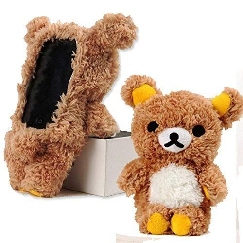 �Fall iPhone 5C iPhone 5S Case Cover 3D Sweet Cute Teddy Bear Puppe Spielzeug Plüsch Handy Schutzhülle für iPhone 5/5C/5S ()