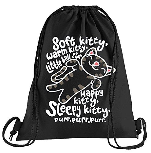 Kostüm Soft Kitty - T-Shirt People Soft Kitty Purr Purr Purr Sportbeutel - Bedruckter Beutel - Eine schöne Sport-Tasche Beutel mit Kordeln