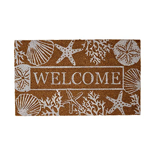DII Welcome Seashells Spring/Summer Doormat, 18x30, Extreme Cold Weather Boot