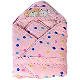 Mee Mee Baby Warm Wrapper cum Blanket with Hood (Dark Pink)