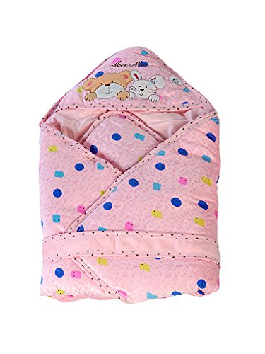 Mee Mee Baby Warm Wrapper cum Blanket with Hood (Dark Pink)  available at amazon for Rs.899