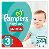 Lot de 44 couches culottes Pampers Baby Dry Taille 3