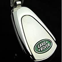 Luxury AutomotivaLand Rover Chrome Effect Luxury Logo Style Featured Brand Logo Keyring Keyfob Land Rover Gift for Models Series 2, Series3, Range Rover, Discovery, 90, 110, Evoque, Sport